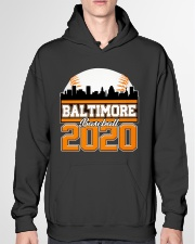 Baltimore Skyline Retro Baseball Shirt 2020 Hooded Sweatshirt garment-hooded-sweatshirt-front-04