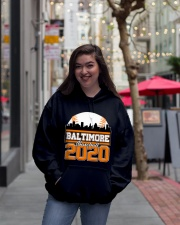 Baltimore Skyline Retro Baseball Shirt 2020 Hooded Sweatshirt lifestyle-unisex-hoodie-front-2