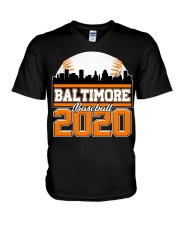 Baltimore Skyline Retro Baseball Shirt 2020 V-Neck T-Shirt thumbnail