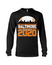 Baltimore Skyline Retro Baseball Shirt 2020 Long Sleeve Tee thumbnail