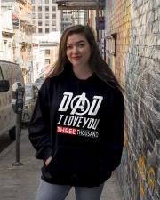 Dad I Love You Three Thousand Shirt Hooded Sweatshirt lifestyle-unisex-hoodie-front-1