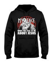 Norse Viking Gift For A Viking Warrior Jesu Hooded Sweatshirt front