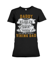 Viking Warrior Gift For A Viking Dad Premium Fit Ladies Tee thumbnail