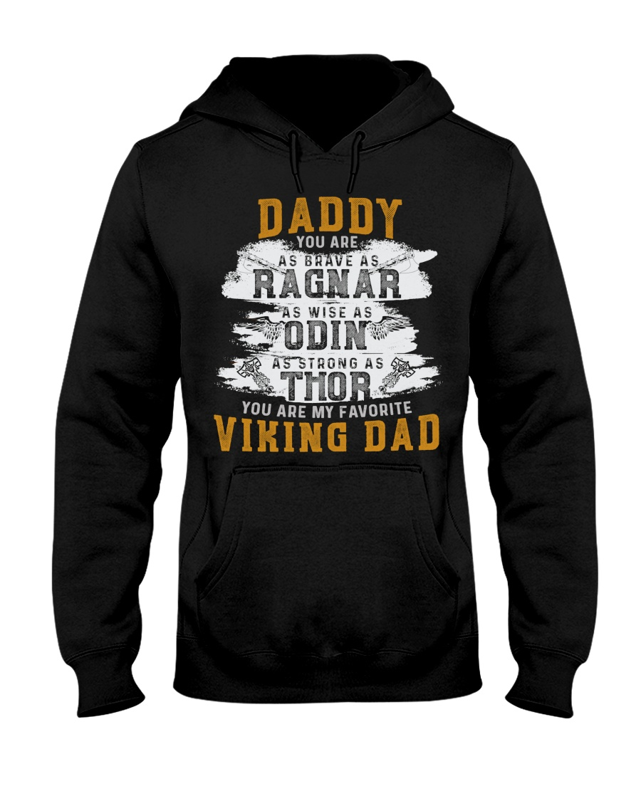 Viking Warrior Gift For A Viking Dad Hooded Sweatshirt