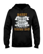 Viking Warrior Gift For A Viking Dad Hooded Sweatshirt front