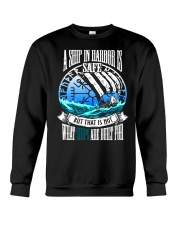 Norse Viking Gift For A Viking Warrior Blue Crewneck Sweatshirt thumbnail