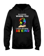 In A World Where You Can Be Anything Be Kind LGBT  Hooded Sweatshirt thumbnail
