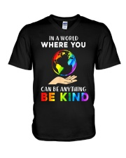 In A World Where You Can Be Anything Be Kind LGBT  V-Neck T-Shirt thumbnail