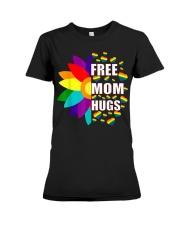 FreeMom Hugs LGBT Gay T-Shirt Premium Fit Ladies Tee thumbnail