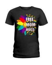 FreeMom Hugs LGBT Gay T-Shirt Ladies T-Shirt thumbnail