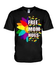 FreeMom Hugs LGBT Gay T-Shirt V-Neck T-Shirt thumbnail