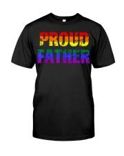 Mens Gay Pride Shirt Proud Father LGBT parent Tee  Classic T-Shirt thumbnail