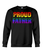 Mens Gay Pride Shirt Proud Father LGBT parent Tee  Crewneck Sweatshirt thumbnail