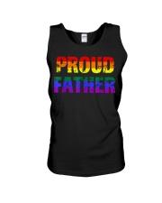 Mens Gay Pride Shirt Proud Father LGBT parent Tee  Unisex Tank thumbnail