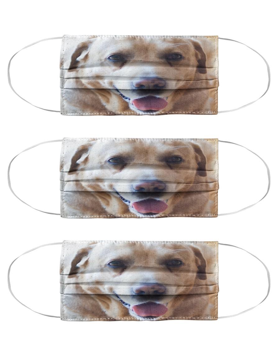Big Face Labrador Retriever Cloth Face Mask - 3 Pack