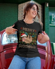 Limited Edition - Merry Slothmas Ladies T-Shirt apparel-ladies-t-shirt-lifestyle-01