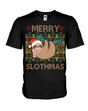 Limited Edition - Merry Slothmas V-Neck T-Shirt tile