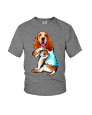 Limited Edition - I Love Mom Basset Hound Youth T-Shirt thumbnail