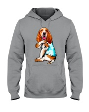 Limited Edition - I Love Mom Basset Hound Hooded Sweatshirt thumbnail