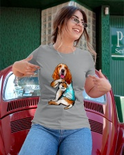 Limited Edition - I Love Mom Basset Hound Ladies T-Shirt apparel-ladies-t-shirt-lifestyle-01