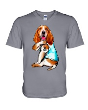 Limited Edition - I Love Mom Basset Hound V-Neck T-Shirt thumbnail