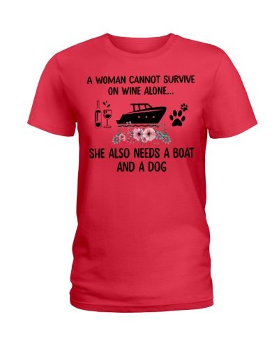 A Woman Needs A Boat And A Dog Survive On Wine