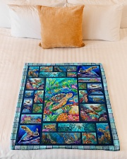 "Turtle Loves Small Fleece Blanket - 30"" x 40"" aos-coral-fleece-blanket-30x40-lifestyle-front-04"