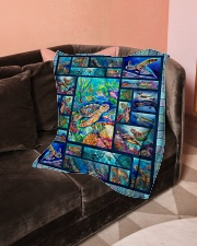"Turtle Loves Small Fleece Blanket - 30"" x 40"" aos-coral-fleece-blanket-30x40-lifestyle-front-05"