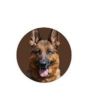 Big Face German Shepherd Circle Magnet thumbnail