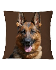 Big Face German Shepherd Square Pillowcase thumbnail