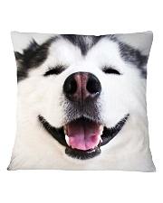 Big Face Husky Square Pillowcase thumbnail