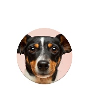 Big Face Poodle Circle Magnet thumbnail