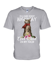 On A Dark Desert Highway - Cool Wind In My Hair V-Neck T-Shirt thumbnail