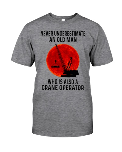 An Old Man Who Is Also A Crane Operator