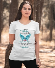 I Am Not A Widow I Am The Wife Of A Guardian Angel Ladies T-Shirt apparel-ladies-t-shirt-lifestyle-05