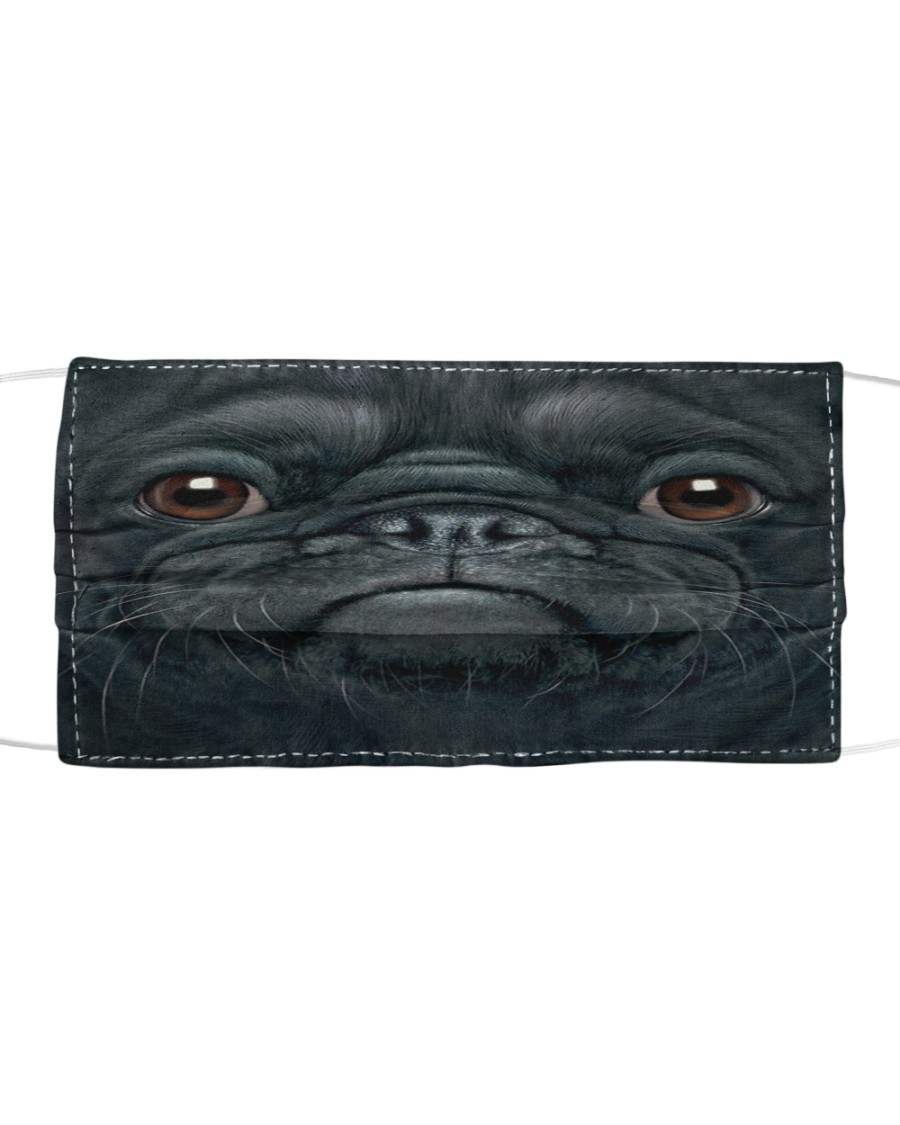 Big Face Pug Cloth face mask