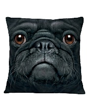Big Face Pug Square Pillowcase thumbnail