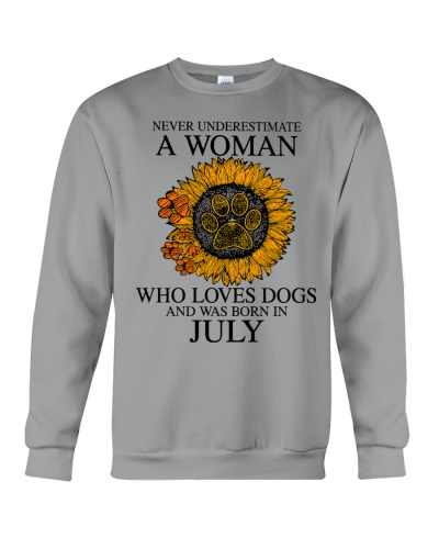 A Woman Who Loves Dogs And Was Born In July
