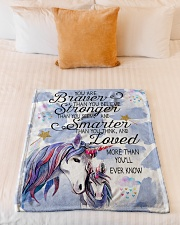 """You Are Brave Than You Believe Small Fleece Blanket - 30"""" x 40"""" aos-coral-fleece-blanket-30x40-lifestyle-front-04"""