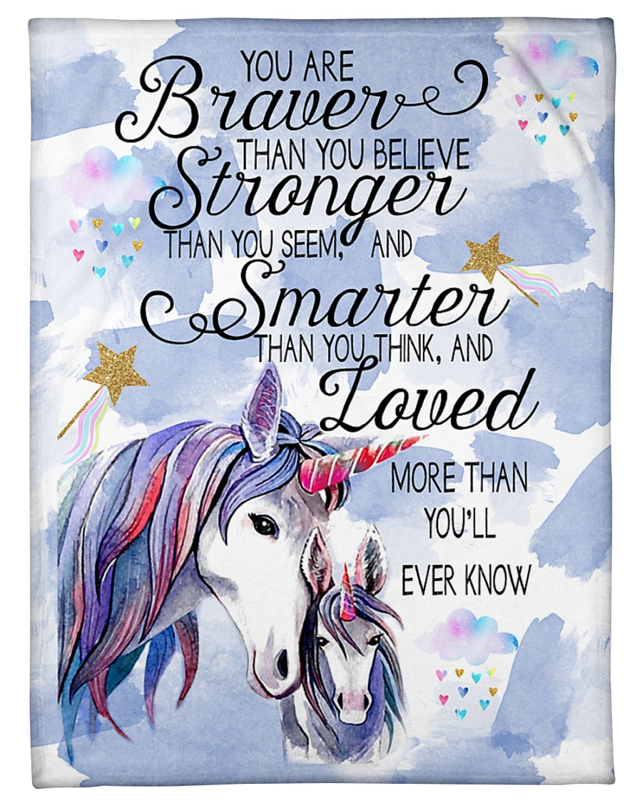 """You Are Brave Than You Believe Small Fleece Blanket - 30"""" x 40"""""""
