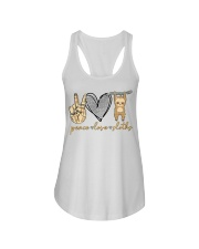 Limited Edition - Peace Love Sloths Ladies Flowy Tank thumbnail