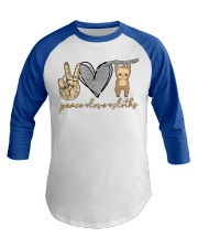 Limited Edition - Peace Love Sloths Baseball Tee thumbnail