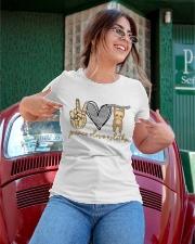 Limited Edition - Peace Love Sloths Ladies T-Shirt apparel-ladies-t-shirt-lifestyle-01