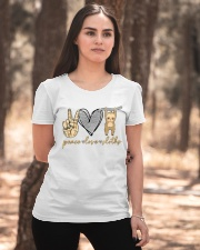 Limited Edition - Peace Love Sloths Ladies T-Shirt apparel-ladies-t-shirt-lifestyle-05