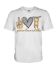 Limited Edition - Peace Love Sloths V-Neck T-Shirt thumbnail