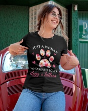 Limited Edition - Dogs And Tattoos Ladies T-Shirt apparel-ladies-t-shirt-lifestyle-01