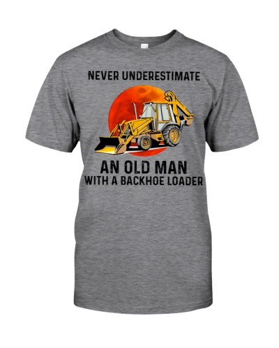 Limited Edition - An Old Man With A Backhoe Loader