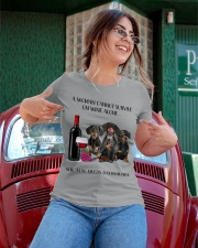 A Woman Cannot Survive On Wine She Needs Dachshund Ladies T-Shirt apparel-ladies-t-shirt-lifestyle-01