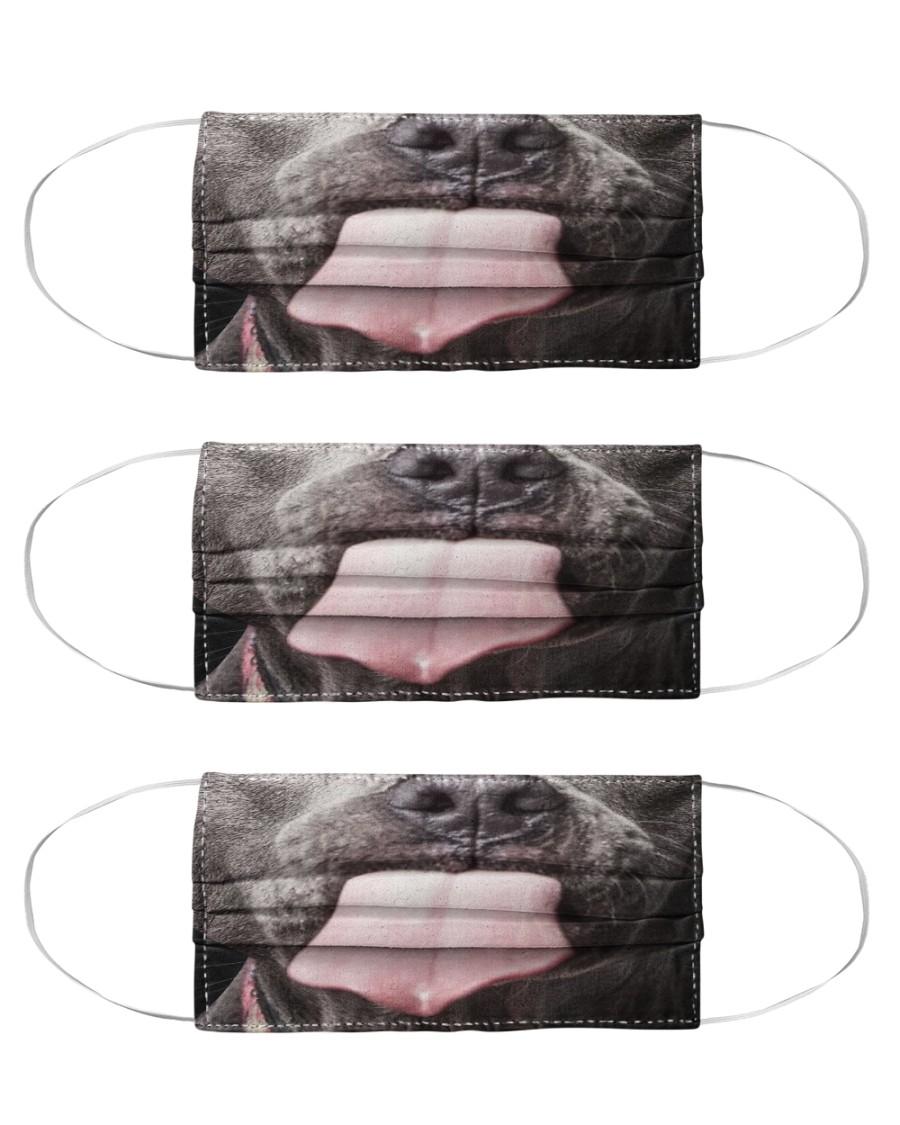 Big Face Pitbull Cloth Face Mask - 3 Pack