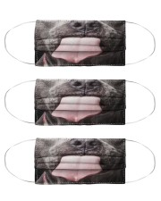Big Face Pitbull Cloth Face Mask - 3 Pack front